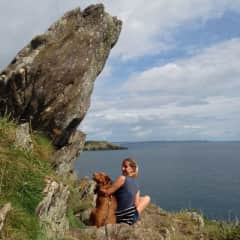 Meditating by Cornwall coast .. and enjoying the Cornish cliffs ♥️