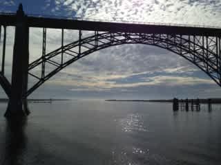 Yaquina Bay bridge, Newport OR (20 mi. south of farm).