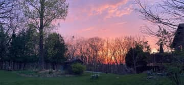 Sunset view from the garden