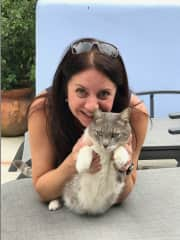 Mexican Harold & Debra., Jan 2018. Cats always find me wherever I go (maybe it's the treats in my purse?!).