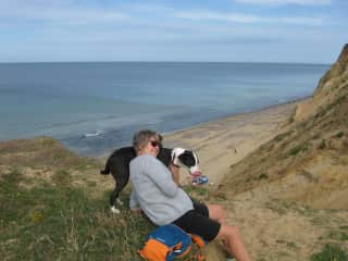 N Norfolk coast with Imani