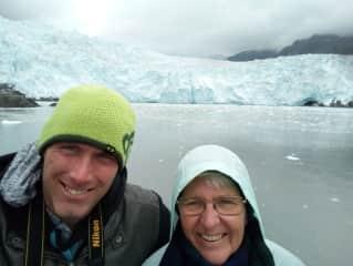 me and son on a whale cruise Alaska Aug 17