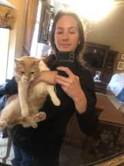 My parents cat Milo.