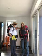 My and my Sister about to set off on our month long hike