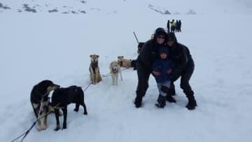Dog Sled in Alaska