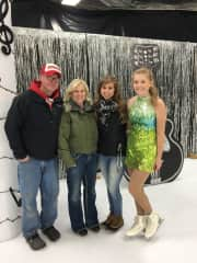 Night of the ISA skating show with my husband Todd and 2 of our daughters Mallory and Maggie❤️