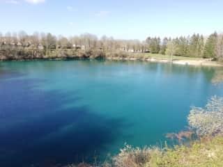 The 5acre lake rear garden view