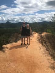 Adam and Emilia by the Pai Canyons