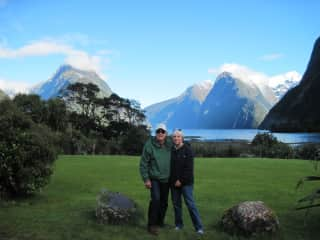 Pam and Gary in New Zealand