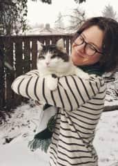 Me and my kitty Kona