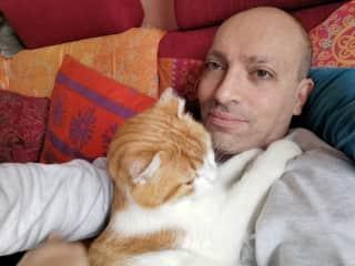 Cat-sitting Mogli in Vienna