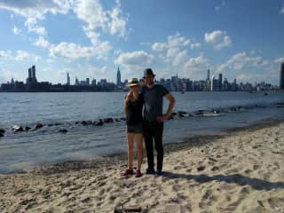Our family on the shores of Brooklyn -- Zeki is there, but not born yet!