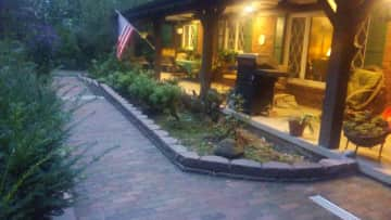 Front porch in evening