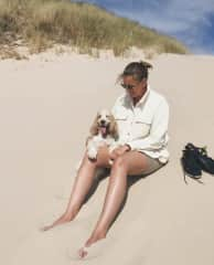 This is med and Harriet, on the sand dunes of northern Denmark