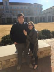 Shortly after we got engaged at my alma matter.