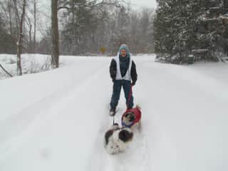 Walking Yuffie and Milo