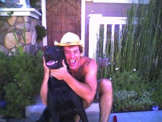 With my black lab, Moby. Circa 2002/3.