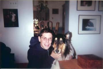 Me and my beautiful collie Wonder (now passed away)