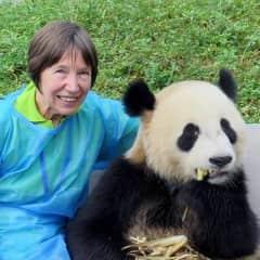 At the Dujiangyan Panda Base, China