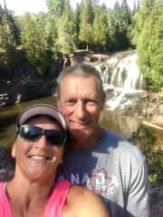 Lori & Larry hiking