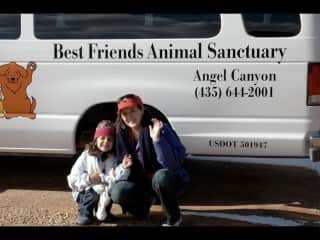 Volunteering w/ my daughter (who is now 20 yr old) at the amazing Best Friends Animal Sanctuary.