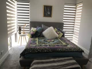 bedroom for guests and there is another room with a double bed