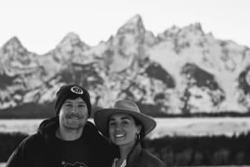 Me and Sam, home in the Tetons