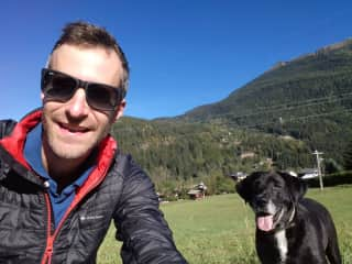 Playing with Twix in the Alps