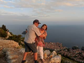 Greg and Toni on the hill above Dubrovnik