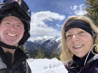 Scott and Sarah skiing in Colorado.
