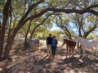 Walking on a Texan Ranch