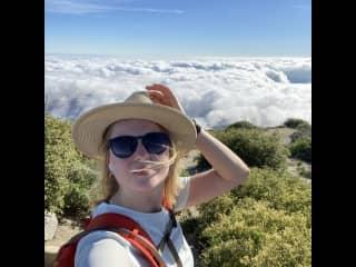 6165 ft elevations Strawberry Peak, California.