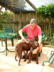 Tom with Cloe