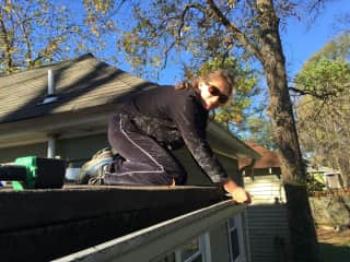 Fixing and cleaning gutters ;-)!