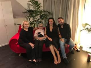 my mum, my grandma with Louis, me and my husband Mirko