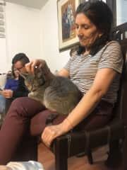 Martha with Bombay, we sat him for more than a month, while our friends were out of town