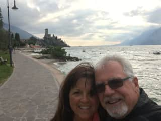 Bill and Tracy in Malcesine, Italy