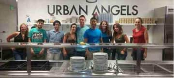Volunteering with Urban Angels in downtown San Diego, preparing, serving food, and helping homeless people get back on their feet!