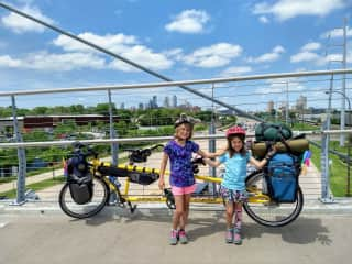 Bike Camping with my resilient daughters.