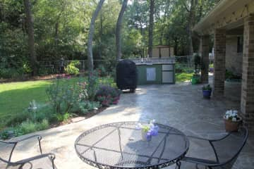 Patio with kitchen area