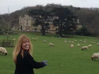 Danielle in the Cotswolds with her sheep