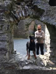 We brought Max to the Castle!
