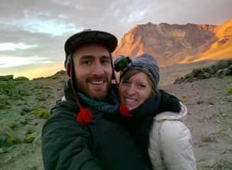 We tried to climb a volcano in Peru... but Christine got too sick. Adventurers in spirit though!