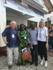 Perkins and Mary at a conference in Legon, Ghana