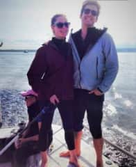Michaela and Alexander sailing in the Puget Sound