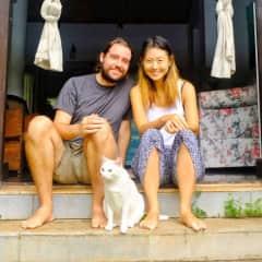 With Gumdrop in Parra, India.