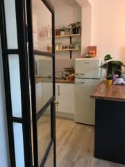 View of kitchen from entrance