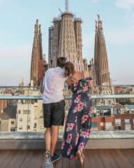 Hana & Jozef discover hidden roof-tops in Barcelona