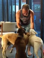 Dan, helping w/house sit, great buddies