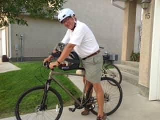 Lyle, bike riding in Lethbridge